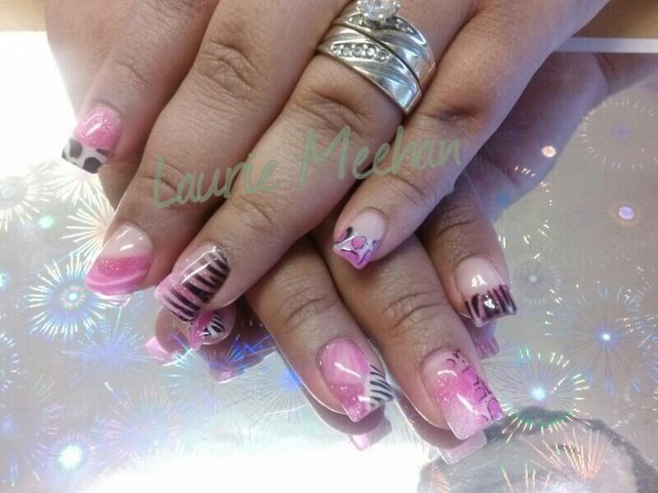 Pink and wild | Nail art & designs! | Pinterest