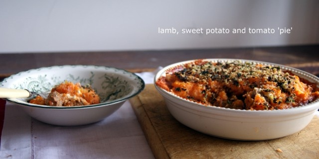 Sweet potato and tomato pie