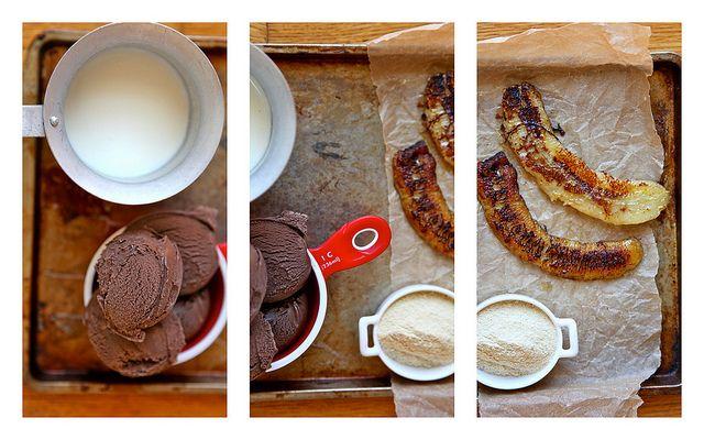 Burnt Banana Chocolate Malted Milkshake (mmm!) | milkshake collage by ...