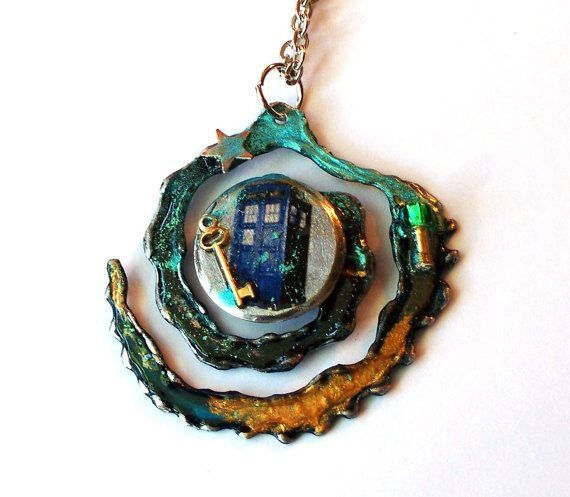 geektastic doctor who themed jewelry by time machine