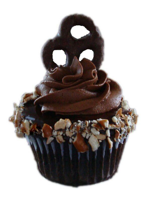 Chocolate Covered Pretzel Cupcake | Cupcakes Cakes Cake Pops | Pinter ...