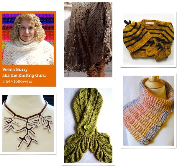 Please click and read this lovely interview Craftsy did on KnittingGuru. They always ask such good questions! Pinner Veena Burry aka The Knitting Guru