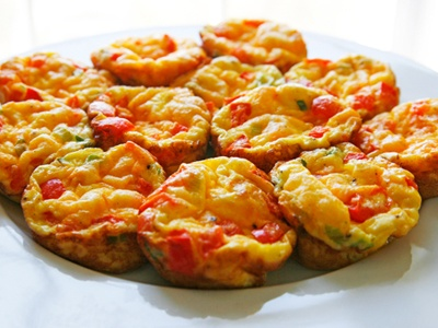 Red Pepper and Scallion Mini Frittatas from Sarah's Cucina Bella (http ...