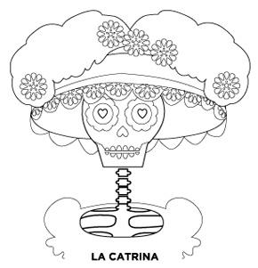 calavera catrina coloring pages - photo#19