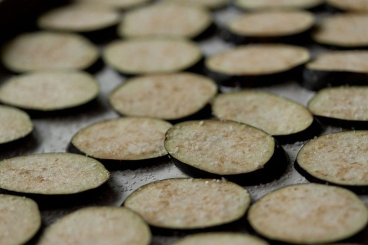 Eggplant chips with Cilantro pesto. One user said to increase the temp ...