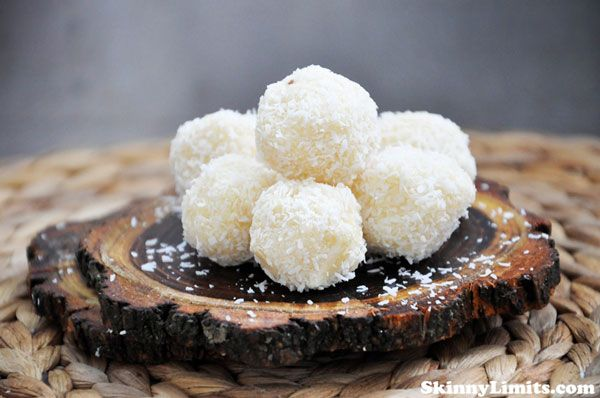Raw Vegan Coconut Snowballs - A great no bake holiday recipe that's ...