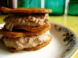 """Carrot Cake """"Ice Cream"""" Sandwiches....Gluten free, Almost sugar fre..."""