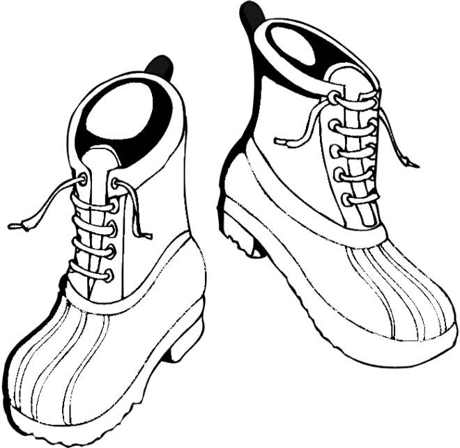 Winter Boots Are Strongly Coloring PagesWinter Boots Coloring Pages