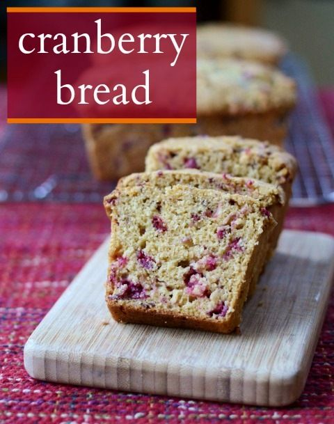 Cranberry Bread | Real Food Real Deals #healthy #recipe #snack