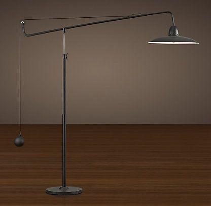 floor restoration hardware floor lamp pinterest. Black Bedroom Furniture Sets. Home Design Ideas