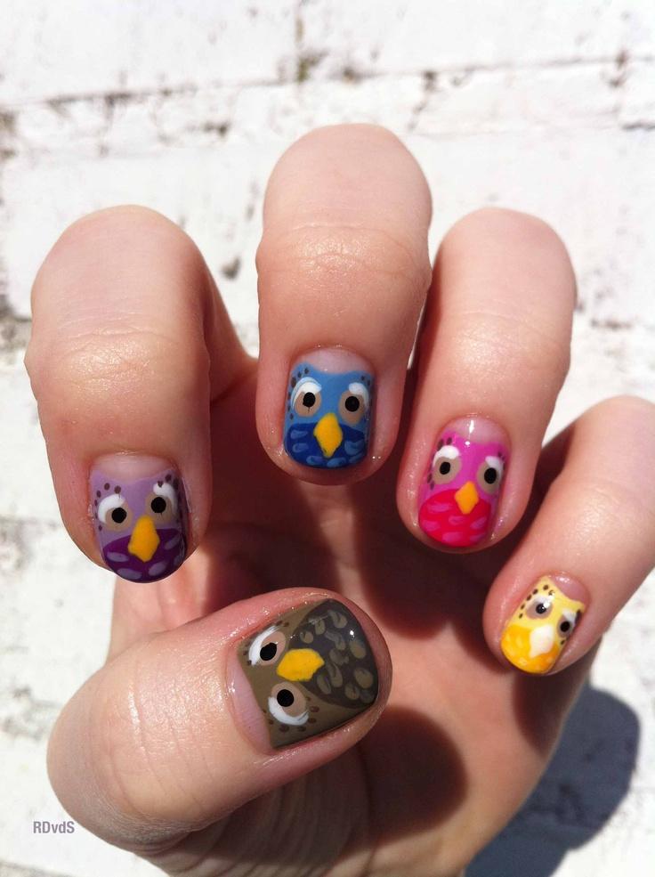 Nail Art Owls – ledufa.com