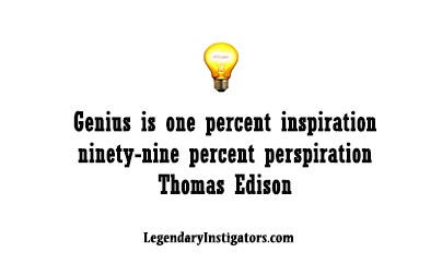 genius is one percent inspiration and ninety-nine percent perspiration essay Genius is one percent inspiration and ninety-nine percent perspiration definition at dictionarycom, a free online dictionary with pronunciation, synonyms and.