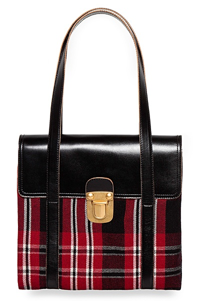 Red and Black tartan bag -  Marni 2012 Winter Collection