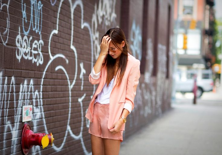 One of our favourite bloggers Danielle from WeWoreWhat rocking Wilfred on her blog today!