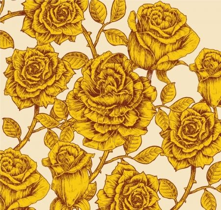 Vintage yellow roses. ...