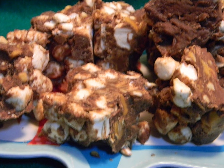 Pams Party & Practical Tips: Treat of the Day- Rocky Road Fudge