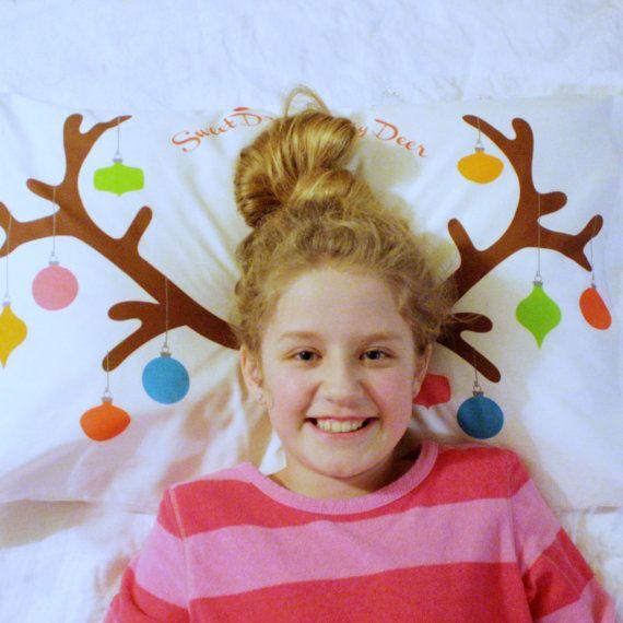 Reindeer Antlers Pillowcase - Christmas Gift for Kids