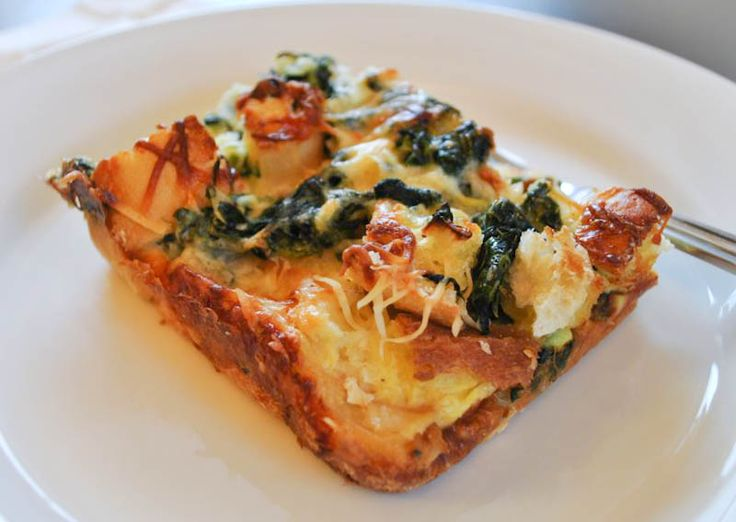 Spinach and Cheese Strata, I'll try it.