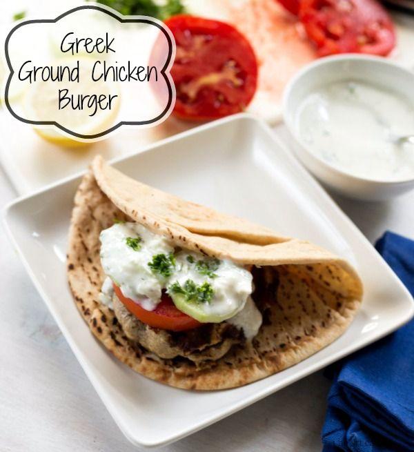 Greek Ground Chicken Burger | Recipe