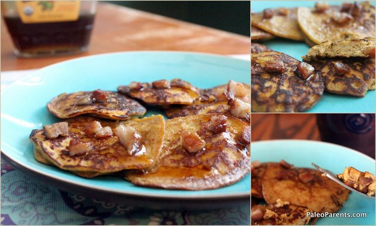 Grain Free Pumpkin & Bacon Silver Dollar Pancakes (using coconut flour ...