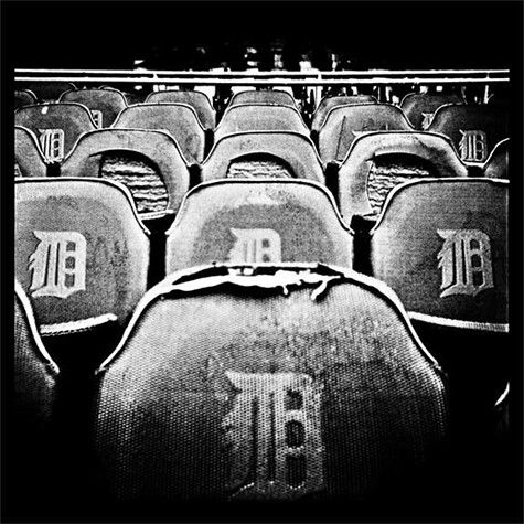 Seats at the old Tiger Stadium in Detroit.