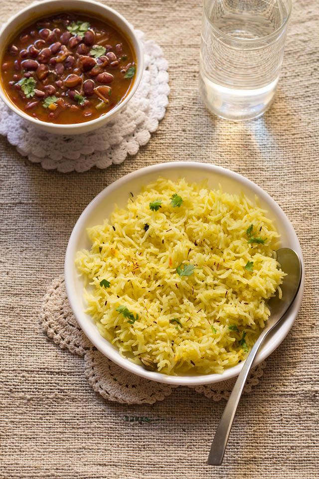 saffron rice or kesar rice - aromatic and flavored rice that perks up ...