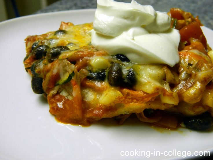 Vegetarian Enchilada Casserole Recipe — Dishmaps