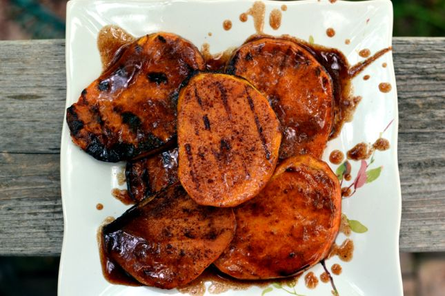 Grilled Sweet Potatoes.. with brown sugar glaze