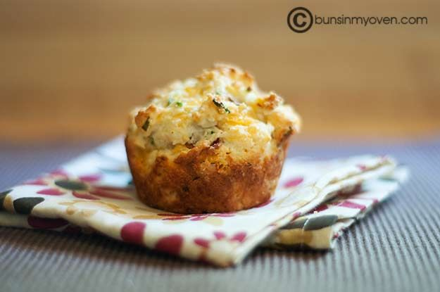 Bacon Cheddar Chive muffins | Bread & Scones | Pinterest