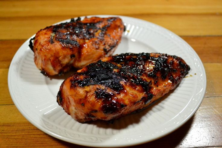 Grilled Chicken Breasts with Spicy Hoisin Glaze I saw this in cooks ...
