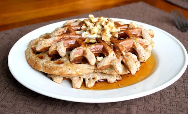 Gluten Free Banana Walnut Waffles | Sunshine ALI