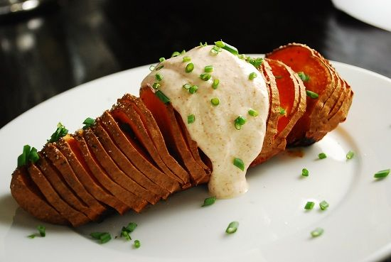 Sliced Sweet Potatoes with Chipotle Yogurt Sauce, so delish, didn't ...