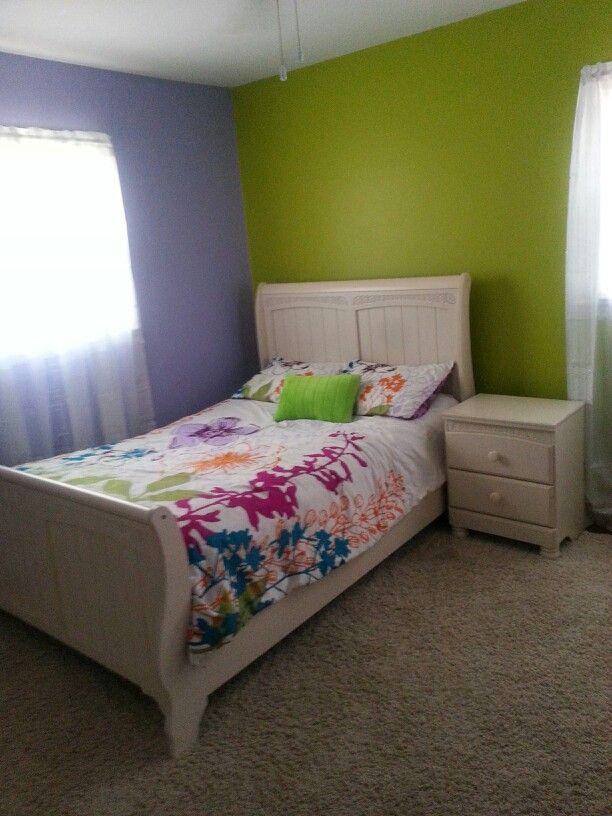 Purple And Green Girl 39 S Bedroom Home Renovation 39 S Pinterest