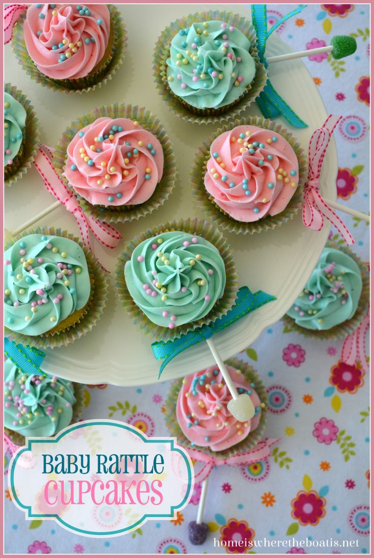 Baby Rattle Cupcakes | My Daughter, the Mermaid | Pinterest