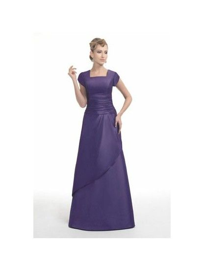 Modest Purple Bridesmaid Dresses - Wedding Short Dresses
