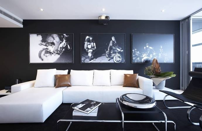 Crisp Contrast Interior Design Pinterest