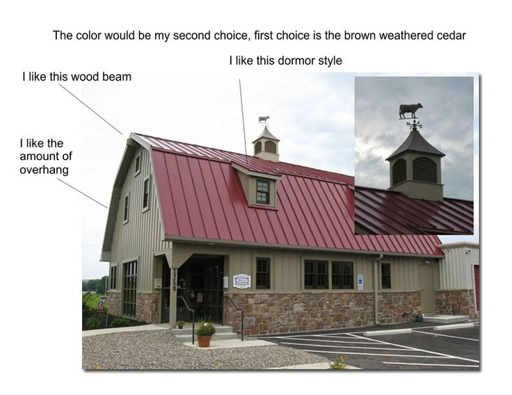 Red Metal Roof On The Barn Ideas Red Roof Pinterest