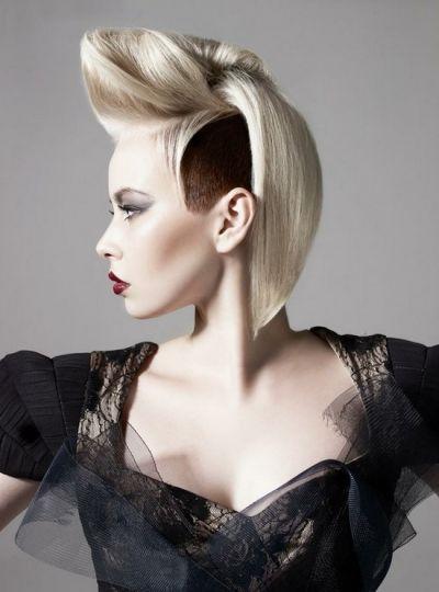 Avant Garde Futuristic Bob Updo Salonable hair