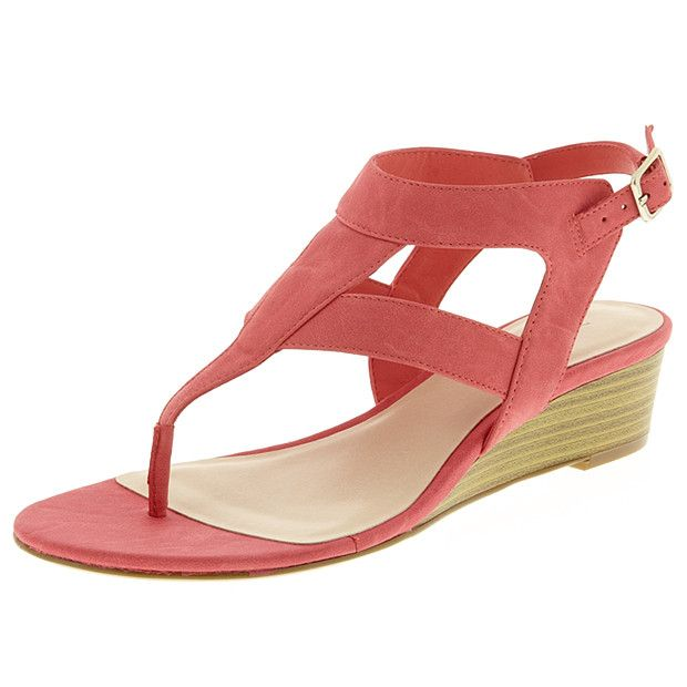 Mania Wedge Sandals - Coral | Shoes | Pinterest Sandals