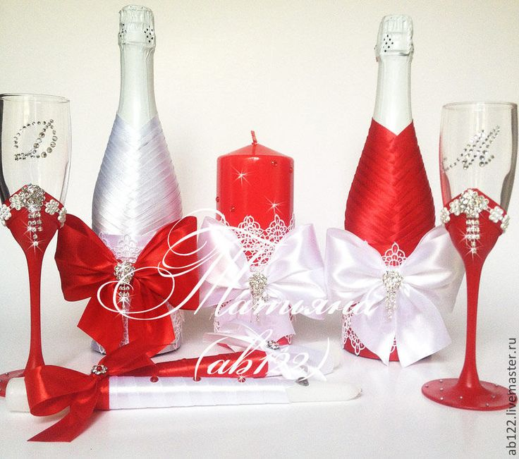 Для свадьбы своими руками бело-красного цвета 255
