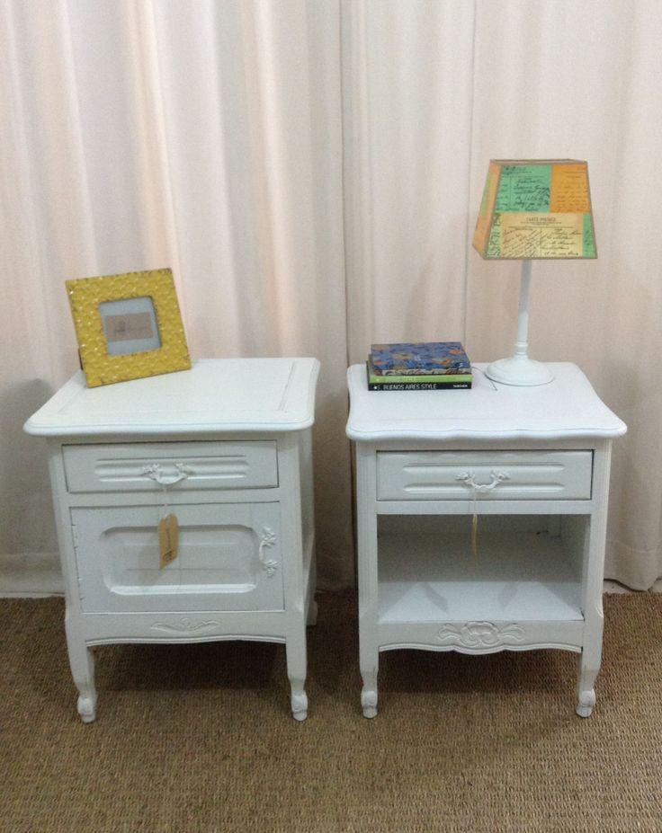 Mesas de luz antiguas restauradas muebles restaurados pinterest - Reciclar marmol ...