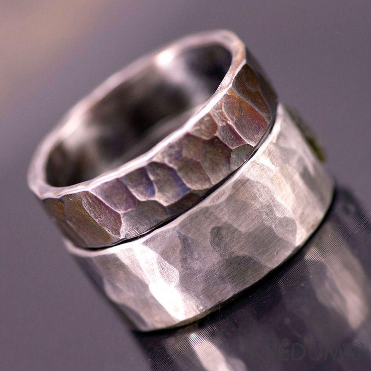 steel wedding ring custom mens ring womens ring unique