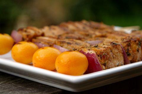 Grilled tuna skewers with salsa verde | Recipe