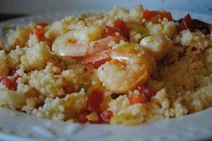 Shrimp & Scallop Couscous Paella. | Food-Hugs Recipes. | Pinterest