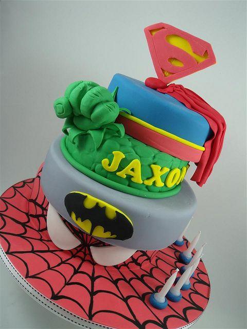 super hero cake ! by cake by kim, via Flickr