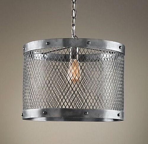 restoration hardware knock off steel mesh pendant kristi was inspired