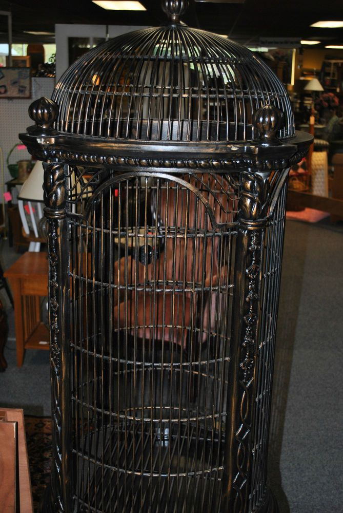 Decorative large metal bird cage for Cage d oiseau decorative