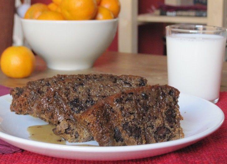Chocolate Chunk Pound Cake with Maple Syrup & Espresso Glaze   Gambas ...