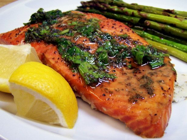 Grilled Cedar Plank Salmon With Lemon-Dill Topping | Recipe