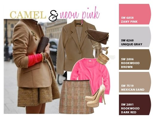Pink and Camel for Fall